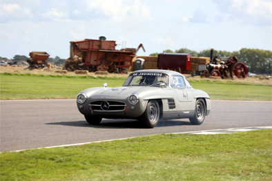 Jochen Mass in the georgeous Mercedes 300SL