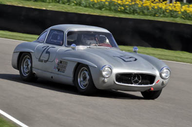 Jochen Mass in the Mercedes 300SL Gullwing
