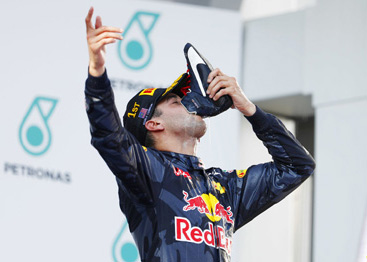 Ricciardo's odd celebration - will it catch on?